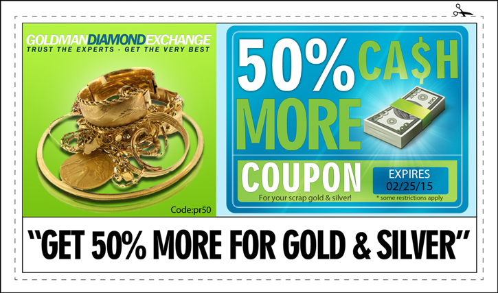 Coupon Cash for Gold